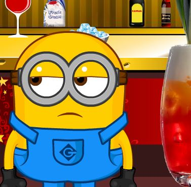 Jeu Minion au bar