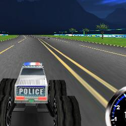 Jeu Course voiture de monster trucks police 3d