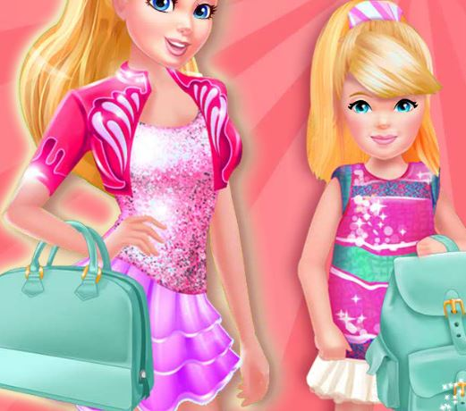 Jeu Sacs a mains de Barbie et Kelly