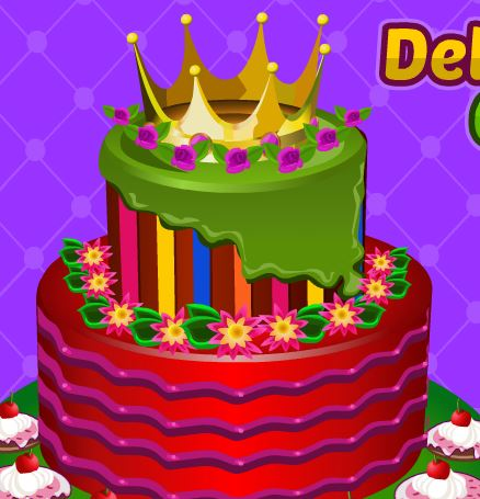 Jeu Decoration d un gateau royale