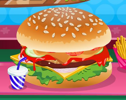 jeu decoration d un hamburger