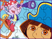 Jeu Puzzle Dora la pirate