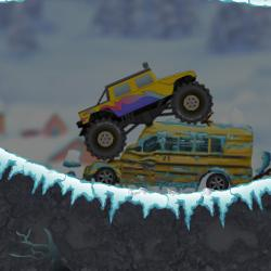 Jeu Trip hivernal en monster truck