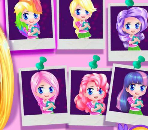 jeu style de cheveux pour petit poney