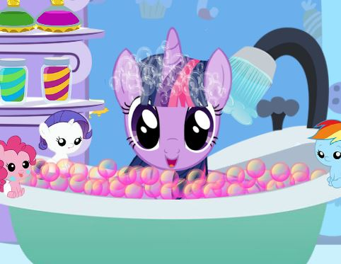 Jeu Twilight sparkle prend son bain