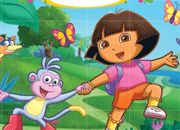 Jeu Dora puzzle mix up
