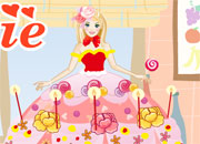 Jeu Faire le gateau a Barbie