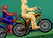Jeu Course Spiderman contre l'Homme-sable