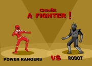 Jeu Power Rangers contre robot