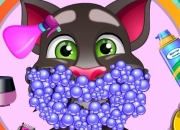 Jeu Talking Tom Barbe et Shampoing