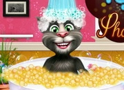 Jeu Talking Tom prend un bain